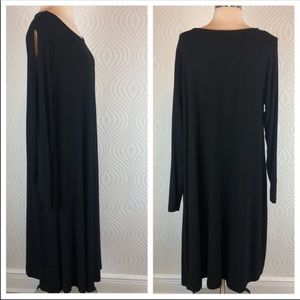 ASOS Curve Black Maxi with Open Sleeves, 14